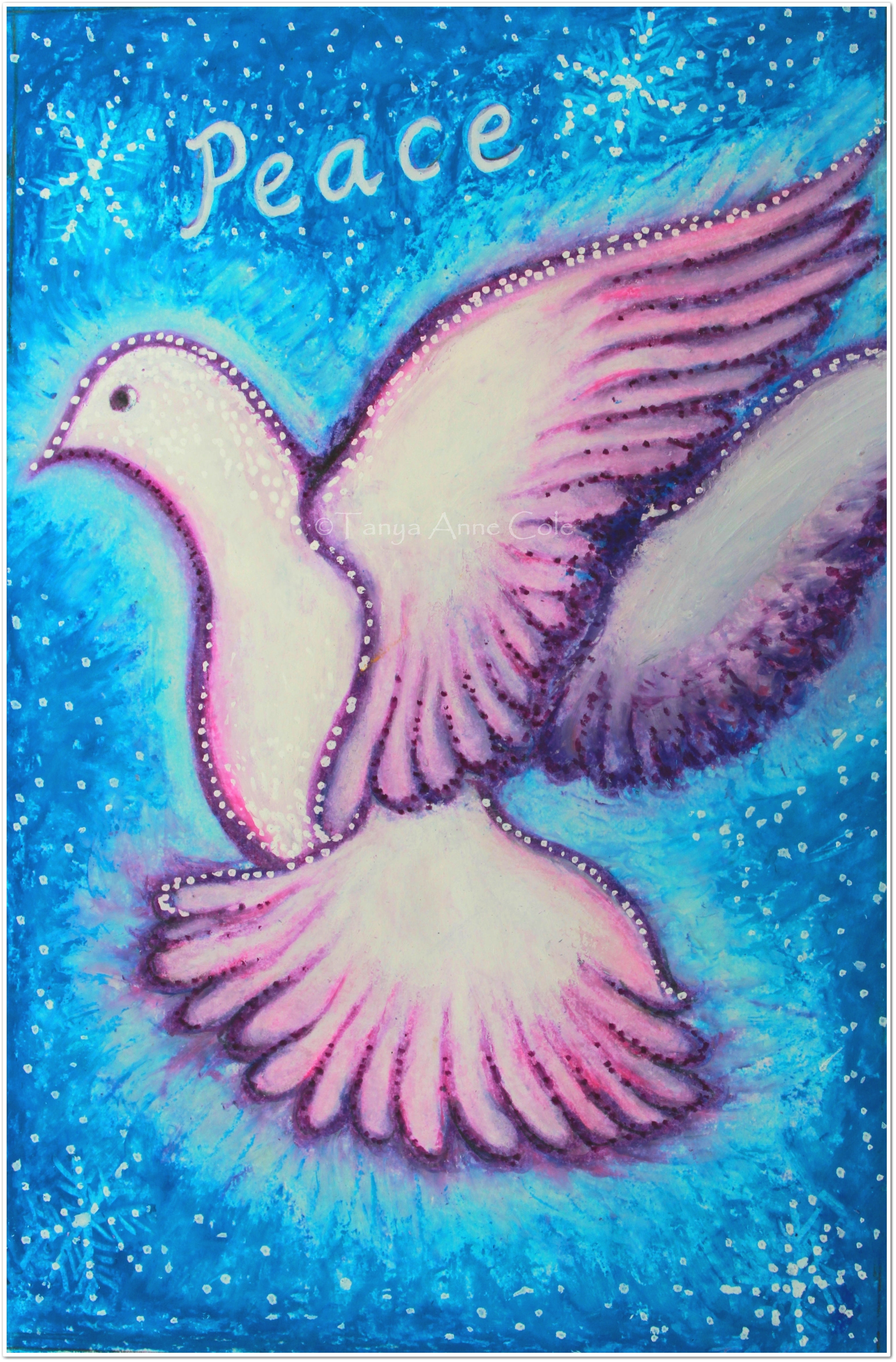 peace christmas card framed and watermarked